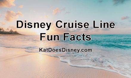 Disney Cruise Line Fun Facts