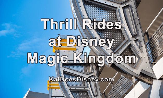 Thrill Rides at Disney Magic Kingdom